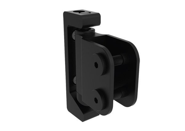 black cubicle door hinge