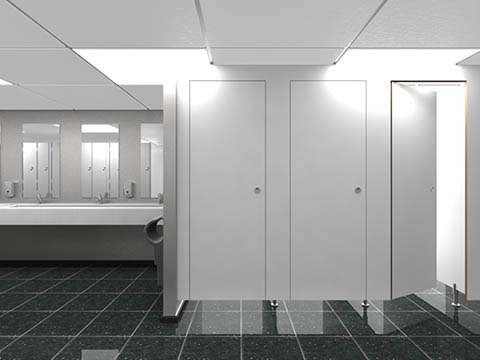 contemporary Toilet Cubicle