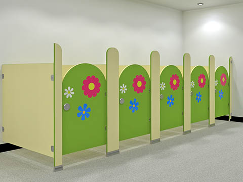 Rainbow Toilet Cubicles