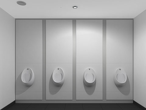 White Budget Toilet Cubicles