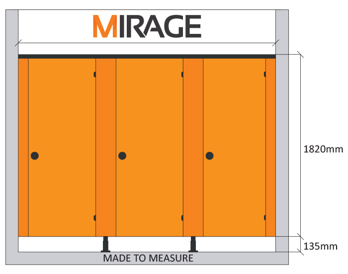 mirage cubicle spec