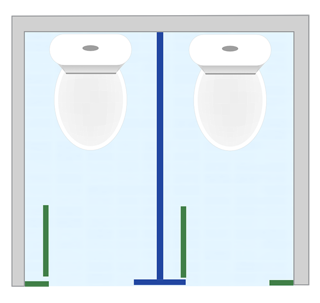 washroom cubicle layouts