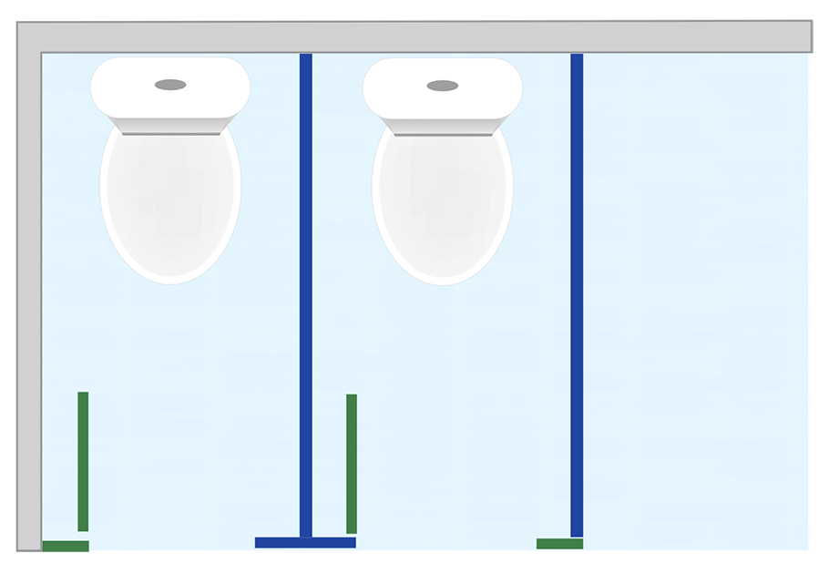 toilet cubile layouts